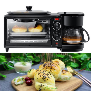 3 in 1 Colazione macchina elettrica 220V Tostapane casa e caffè Pizza Egg Tart Forno Padella Macchina per il pane