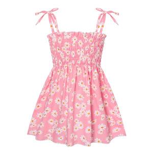 Kız bebekler Sling Elbise 15 Bohemia Elbiseler Bebek Bebek Çiçek Kıyafetler Boho Kızlar Elbiseler Çocuk Casual Giyim Kız Etekler 060514 Tasarımları