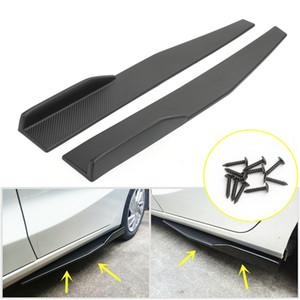 Areyourshop Auto 1Pair 74.5cm Auto-Carbon-Faser-Seitenschweller Rocker Splitters Diffusor Winglet-Flügel-Auto-Zubehör-Teile