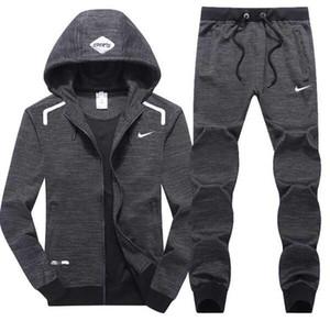 가을 남자의 전체 지퍼 tracksuit 남자 스포츠 슈트 흰색 싼 남자 스웨트와 바지 정장 까마귀와 바지 set sweatsuit 남자 커플 슈트