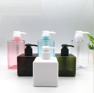 250ml PETG Pump Square Lotion Bottles Shower Gel Hand Sanitizer Bottle Cosmetic Sub-Packing Plastic Bottle 6 Colors