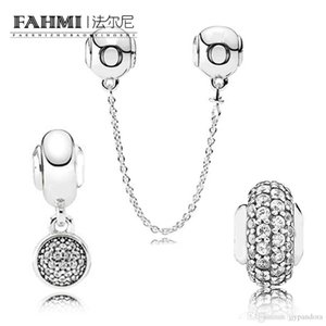 DoniA 100% 925 Sterling Silver 1:1 E Series Charm Bead SAFETY CHAIN APPRECIATION HANGING HOPE BALANCE SPACER