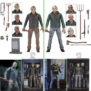 Neca 3d Friday The 13th Part 3 The Final Chapter Jason Voorhees Pvc Action Figure Model Doll 18cm J190720