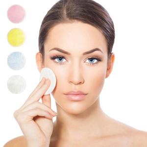 الخيزران القطن ماكياج مزيل الوسادة لينة قابلة لإعادة الاستخدام للعناية بالبشرة مناديل الوجه قابل للغسل التطهير العميق أداة التجميل جولة ماكياج مزيل الوسادة HHA346