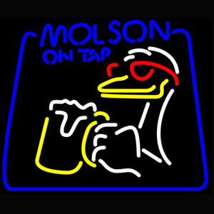 Molson On Tap Duck Neon Sign Beer Bar Sign Bistro Wall Decor Party and Holiday Decor Gift