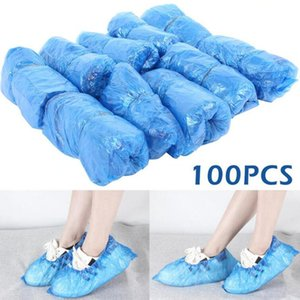Plastic Disposable Shoe Covers Outdoor Indoor Cleaning Shoe Cover Cleaning Overshoes Protective Shoe Covers 100pcs pack 150lots OOA8075