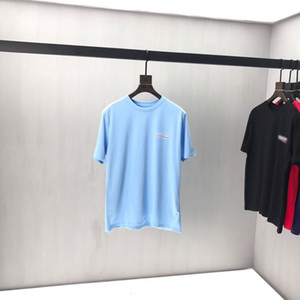 2020ss primavera y el nuevo algodón de alto grado del verano impresión de manga corta ronda panel de cuello de la camiseta Tamaño: M-L-XL-XXL-XXXL Color: negro blanco qq57