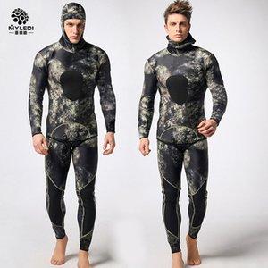 Diving muta in neoprene 3mm uomini pesca subacquea pesca subacquea muta da surf snorkeling costume da bagno Suits Split combinaison da surf muta DHL3-7