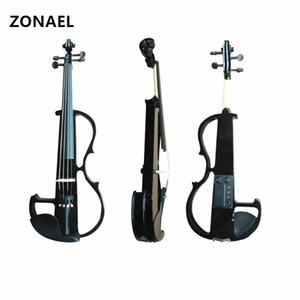 4 4 Electric Acoustic Violin Basswood Fiddle with Violin Case Cover Bow for Musical Stringed Instrument Lovers Beginners