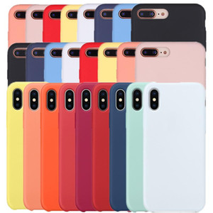 New Aiival Rubber Liquid with Logo Silicone Case For iPhone Xs Mas XR X 8 7 Plus 6 Plus 6
