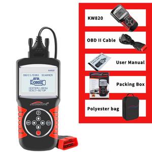 KW820 outil de diagnostic de défaut voiture Détecteur OBD Scanner 12V 2,8 pouces à écran Diagnostics voiture