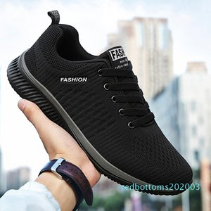 ZHENBAILI Plus Size 36-45 Men Women Mesh Knit Breathable Lightweight Lace Up Flat Casual Shoes 2019 Sneakers Walking Trainers r03