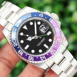 Новая мода 2020 GMT люкс Керамические мужские механические SS Автоматические 2813 Движение Часы Спорт дизайнер денщик мужчин Наручные часы