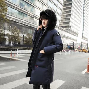 Chaqueta de los nuevos hombres de invierno para hombre Plus con capucha acolchada masculino caliente Casual paño grueso y suave cuello de piel Escudo 3XL de alta calidad para las mujeres Parkas invierno frío