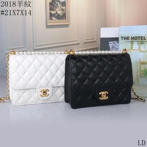 Piccolo chiaro del progettista di marca Catene Donna 2019 nuova di modo Messenger Bag spalla femminile del sacchetto trasparente Rivetti Piazza PU Handbag9101