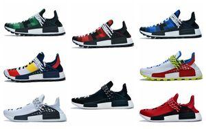 2020 Human Race Hu trail Pharrell Williams Mens Running Shoes for men women Yellow Red Nerd Black Runner Sports Sneakers Designer