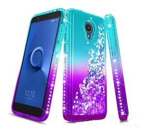 For Goolge Pixel 3 3A XL Alcatel 1X Evolve 7 Folio Oneplus 6T Case Glitter Quicksand Liquid Sparkle Shiny Bling Diamond Cover