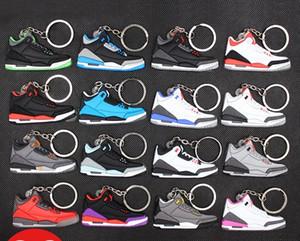 Sneaker Chaveiros bonito mini-Silicone AJ chaveiro tênis de basquete mochila pingente keyring sapatos de força criativas dom brinquedos keychain zdl0325.