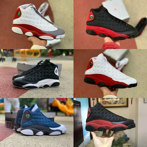 2020 Nike Air Jordan 13 Shoes Air max michael jordans retro  Jumpman 13 Atmosphère Gris Hyper Retroes Moments royal Définition pour des chaussures d'athlétisme Hommes Vol