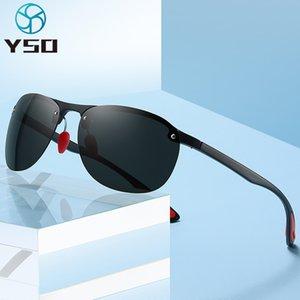 YSO Ultra-light TR90 polarisierte Mann-Sonnenbrille UV400 Schutz-Brille für Auto Fahren Schwarz Marke Sonnenbrillen für Männer 4303