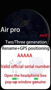 chip GPS H1 cuffie Pro Air GPS Rinomina auricolari superiore qualità del suono con il sensore di baccelli PK i18 i12 i200 i500 i9000 i10000 TWS