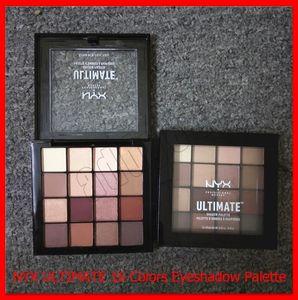 2019 новый макияж глаз NYX ULTIMATE Eye Shadow Palette мерцание матовый 16 цвет теней для век макияж косметика палитры