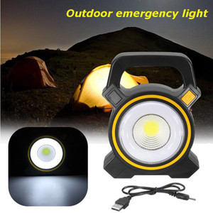 Солнечные лампы Powered USB Портативный 30W светодиодный прожектор Фонари COB пятно перезаряжаемые светодиодный свет потока наружных работ Точечный светильник 2400LM