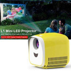 L1 الأسرة الأصل ميني بروجكتور دعم كامل HD1080P المحمولة 1000Lumens المسرح المنزلي العرض HDMI USB ميديا بلاير الأطفال هدية YG300