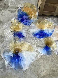 Flower Designed Blown Glass wall plates European Style Customized Blown Murano glass wall lamps