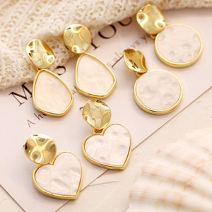 1 Pair New Earrings Creative Vintage Ear Stud Simple Sequined Ear Pendant Women's Delicate Decorating Accessories Gift