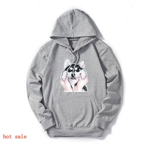 Mens Designer Sweatershirts Hoodies Hip Hop Fashion Thin Paar Hoodies Tops Dog Print-Männer Frauen Langarm-Luxusmode 2020 Spri