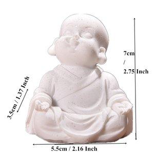 VILEAD 6cm 7cm Sevimli Küçük Monk Heykeli Kumtaşı Çok güzel Tayland Buda heykelcikleri Güzel Biblo Ev Dekorasyonu Yaratıcı Hediye