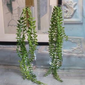Artificiale Succulente Perle carnoso verde Vite fiori appesi Rattan parete della decorazione del giardino di fiore Lover Tears Piante succulente