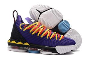 16 Martin Court Pourpre Hommes Chaussures de Basketball 16s MPLS Loup Gris Blanc Or WTT Jumpman LBJ KC EP Hommes Sneakers Tennis