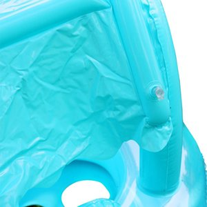 Safe Inflatable Baby Kids Swimming Ring PVC Infant Swimming Float Boat Adjustable Sunshade Seat Fun Swimming Pool Toys