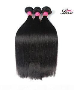 L Peruvian Straight Virgin Human Hair 3 4 Bundles 8a Unprocessed Cheap Peruvian Straight Hair Weft 8 -28 Inch Remy Human Hair Weave Bun