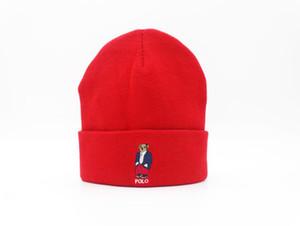 stile CALDO Beanie Moda Gorro Bonnet polo Skull Polo Berretti Cappelli per adulti donne degli uomini Beanie di inverno Pom Knit vuoto Hip-Hop Slouchy Cap