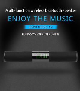 OneDer V01 Top qualité stéréo bon son design de mode sans fil haut-parleur avec affichage LED Fonction d'alarme horloge BT Soundbar