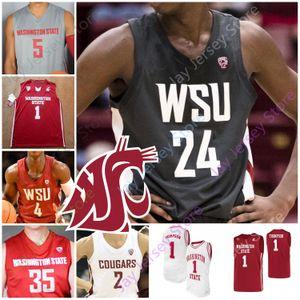 Personalizzato 2020 Washington State Cougars WSU Jersey di pallacanestro NCAA College Thompson CJ Elleby Isaac Bonton Jeff Pollard Tony Miller