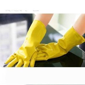 B Cleaning Gloves Dish Washing Glove Rubber Housework Mittens Latex Mitten Long Kitchen Wash The Dishes Mitts Universal High Quality 0