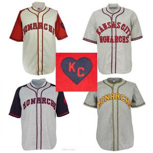 Kansas Monarch'lar 1942 Ev Jersey Film Beyzbol Jersey% 100 Dikişli İsim Numara İçin Erkekler Kadınlar Gençlik