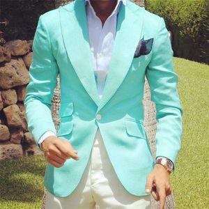 Hot Selling Groomsmen Peak Lapel Groom Tuxedos One Button Men Suits Wedding Prom Dinner Best Man Blazer ( Jacket+Pants+Tie) K319