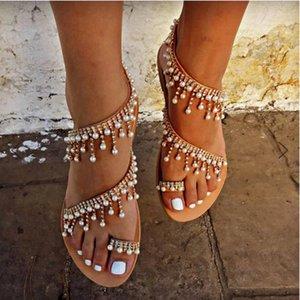2020 Sommer-Sandelholz-Schuhe Strände Frauen Shallow Mund schöne Schuhe Sandalen Mode 2020 Licht Frauen weiblich