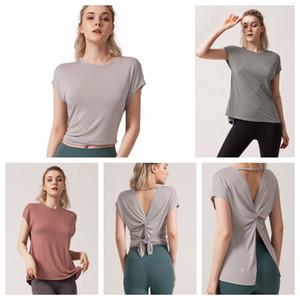 Designer LU-60-Frauen Bra Mädchen schließen Hülsen-Lauf-T-Shirt Damen Freizeit Yoga Outfits Adult Sportübung Fitness Wear