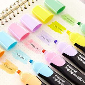 TUNACOCO 1pc Makaron Creative Modeling Fluorescent Pen  Journal Parts Mild Color Highlighter School Supplies bb1710174