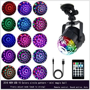 4W mini RGB auto decorazione luce sfera di cristallo di Magic Sound Disco Ball lampada della fase della Lumiere Laser Proiettore Dj Club Partito Light Show