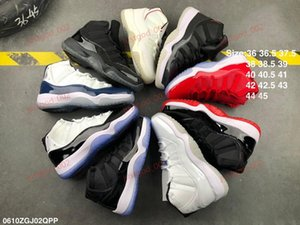Free shipping xshfbcl Bred 11 11s Basketball Shoes Concord 45 Platinum Tint Cap and Gown Mens Women Gym Red Trainer Sports Sneakers