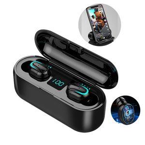 Беспроводные Bluetooth наушники Светодиодный дисплей TWS HBQ-Q32-1 HD Handsfree наушники Спорт Наушники Power Bank Gaming Headset с микрофоном зарядный чехол