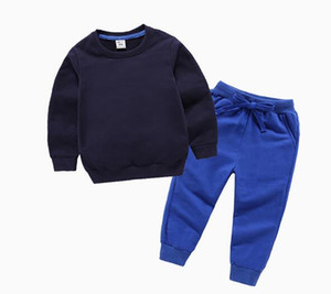 Baby Boys And Girls Suit Brand Tracksuits Kids Clothing Set Hot Sell Fashion Spring Autumn Children's Dresses Long Sleeve qk