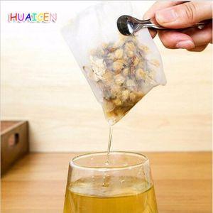1000pcs lot Corn Fiber Tea Filter Bags New PLA Biodegraded Tea Filters Fold Close Tea bag empty bags
